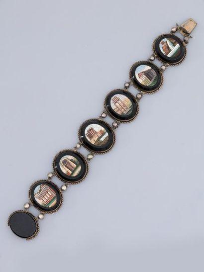 Bracelet en, argent 925 MM, formé de sept...