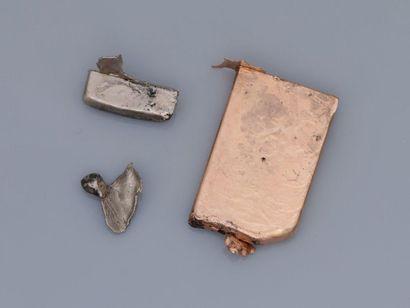 Lot d'or , 750 MM, dimensions 4 / 2,70 cm,...