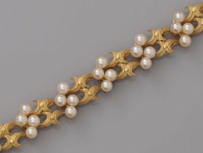 Ravissant bracelet souple en or jaune, 750...