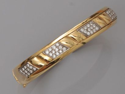 Bracelet rigide, ouvrant en or jaune, 750...