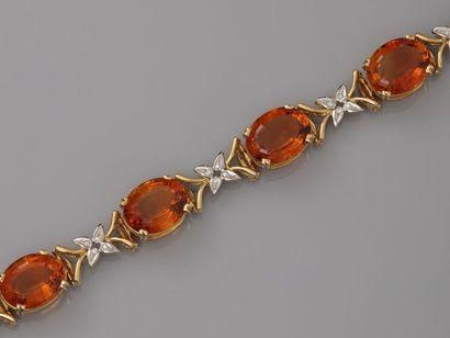 STERN, Bracelet en or jaunen750MM et , platine...