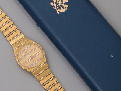 PIAGET, Bracelet montre en or jaune, 750...