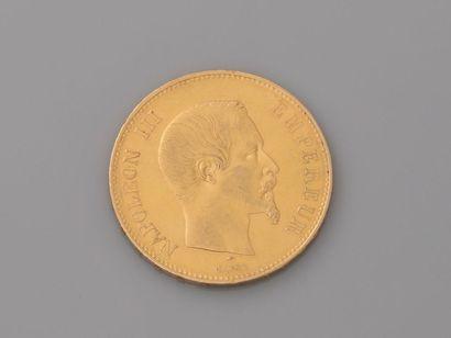 Pièce NAPOLEON III de 100 Fen or, datée A...