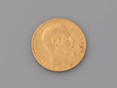 Pièce de 20 F en or NAPOLEON iii, datée 1860,...