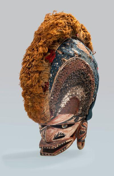 Masque tatanua, Nouvelle-Irlande, Papouasie-Nouvelle-Guinée....