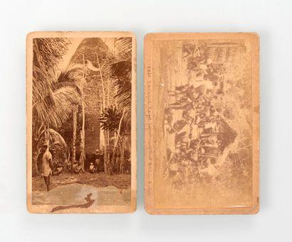 Allan Hughan (1834-1883). Deux photographies...