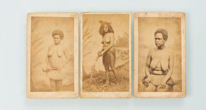 Les frères Dufty. Ensemble de trois portraits...