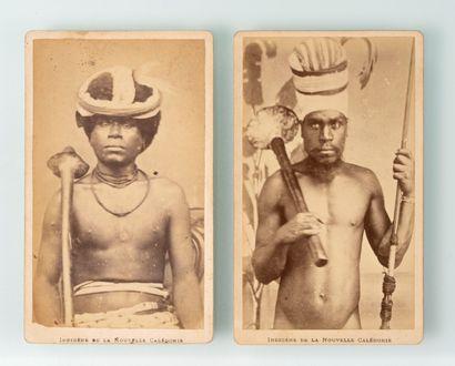Allan Hughan (1834-1883). Deux portraits...