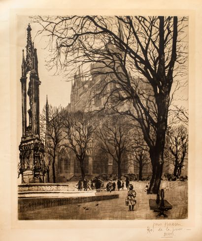 Bucci Anselmo (1887-1955)  Notre Dame de...