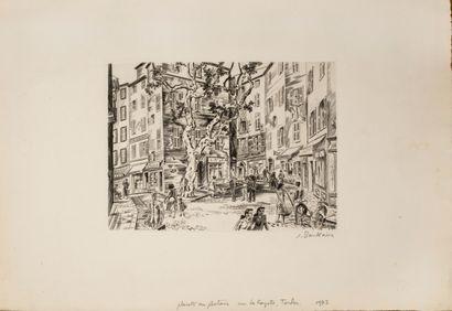 Boullaire Jacques (1893-1976)  Placette au...
