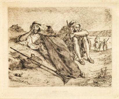 Delacroix Eugène (1798-1863)  Arabes d'Oran...