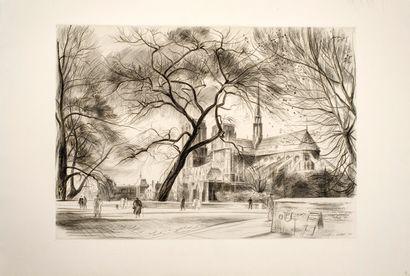 Cottet René (1902-1992)  Notre Dame de Paris...