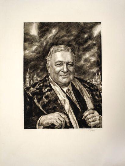 Decaris Albert (1901-1988)  Portrait de Léon...