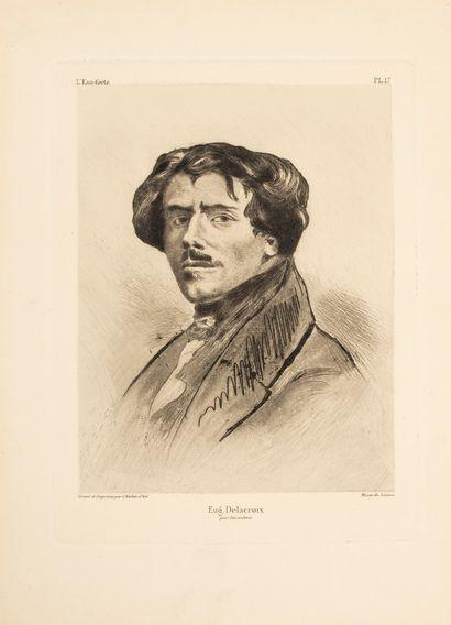 L'Atelier d'Art.  Portrait de Delacroix;...