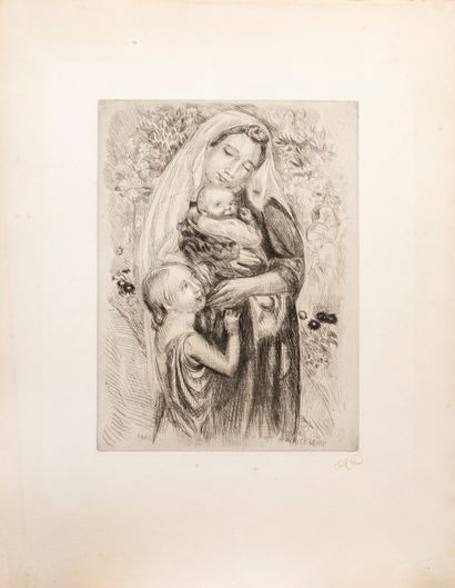 Denis Maurice (1870-1943)  La madone au jardin...