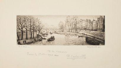 Carbonati Antonio (1893-1956)  Vue de Paris...