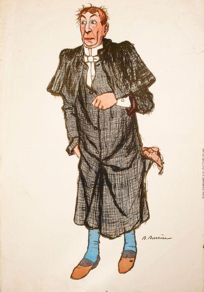 Barrère Adrien (1877-1931)  L'avocat  Lithographie...