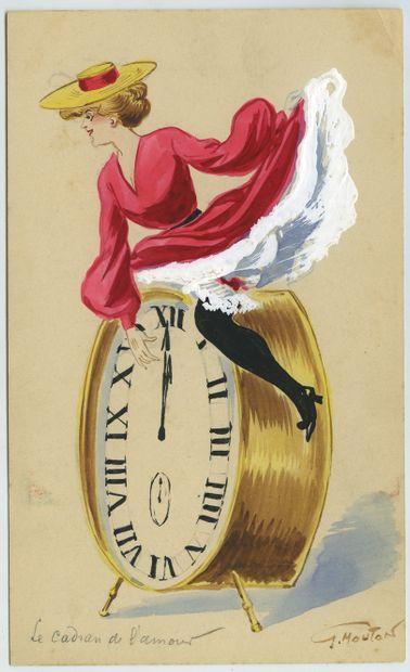 Georges MOUTON. Parisiennes, vers 1900. 8...
