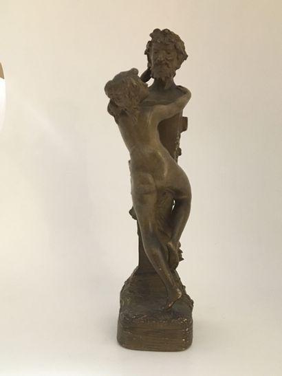 CLODION (d'après). Ode à Priape, vers 1900....