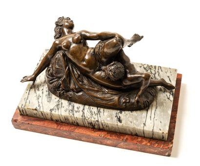 Satyre et bacchante, xixe siècle. Bronze...