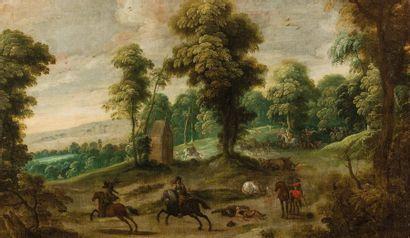 École FLAMANDE du XVIIe?siècle,entourage...