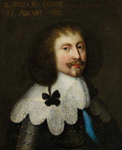 École HOLLANDAISE vers 1640 Portrait du comte...