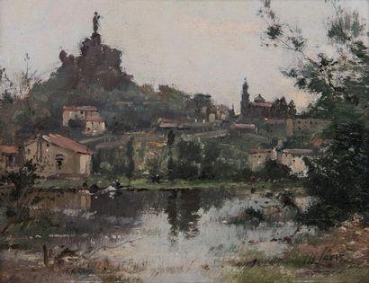 Maurice Lévis (1860-1940)  Vue du Puy  Huile...