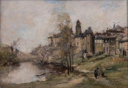 Maurice Lévis (1860-1940) Vue d'Uzerche  Huile...