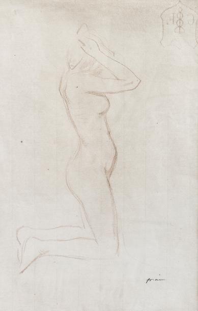 Jean Louis Forain (1852-1931)   Femme accroupie...