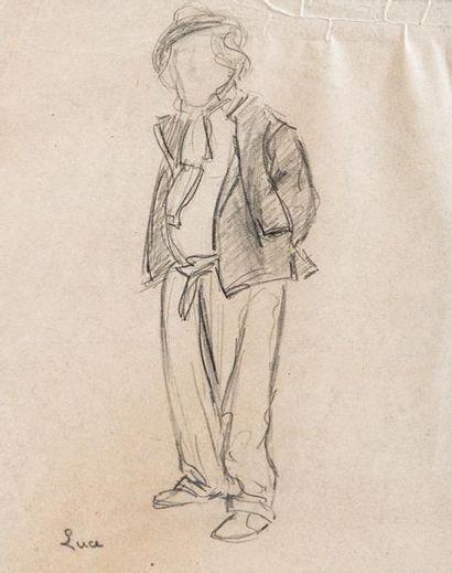 Maximilien Luce (1858-1941)  Portrait d'homme...