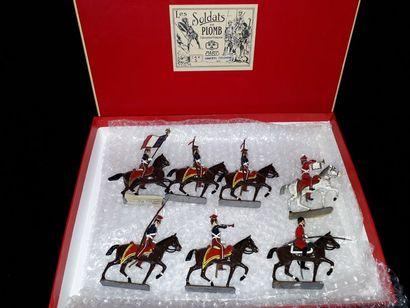 EMPIRE. France. Cavalerie CBG Mignot. 7 figurines...