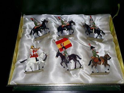 EMPIRE. Espagne. Cavalerie Lucotte. 6 figurines...