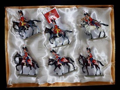 EMPIRE. Danemark. Cavalerie Lucotte. 6 figurines...