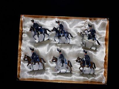 EMPIRE. Prusse. Cavalerie Lucotte. 6 figurines...
