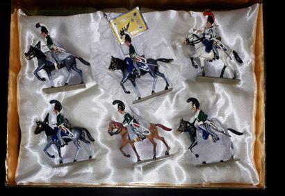 EMPIRE. Russie. Cavalerie Lucotte. 6 figurines...
