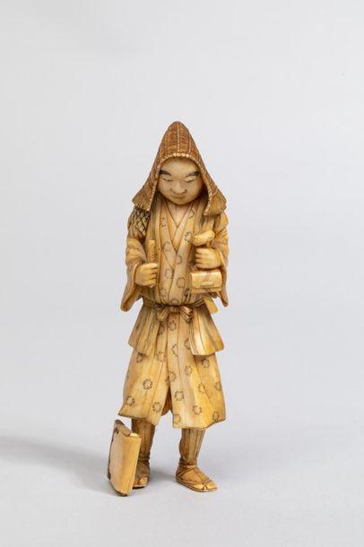 Illustration d'un bucheron aux habits traditionnels...