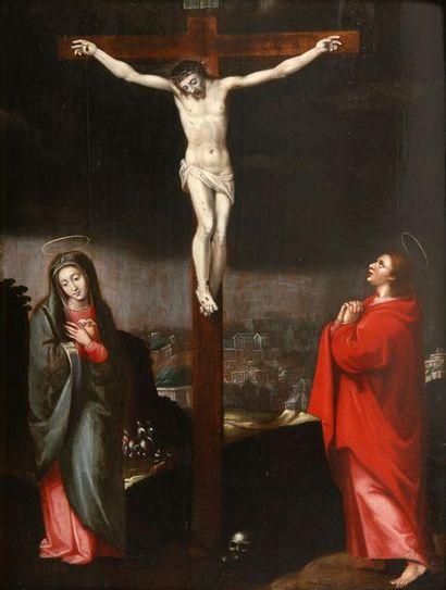École FLAMANDE vers 1605   Le Christ en...
