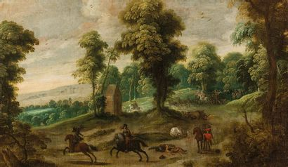 École FLAMANDE du XVIIe siècle,   entourage...