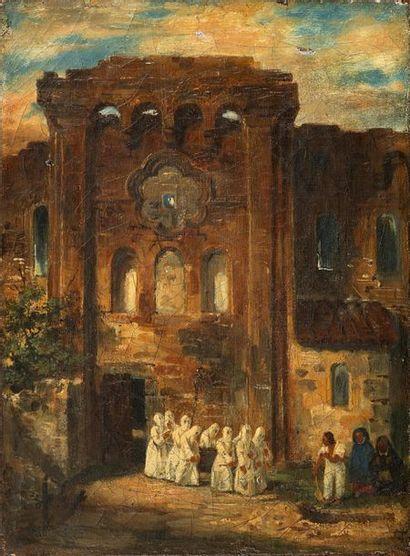 École ESPAGNOLE, 1825   Procession pour...