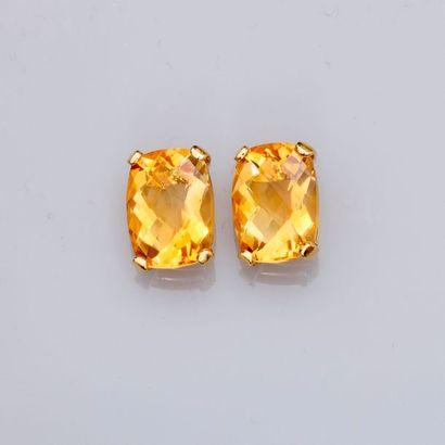 Boucles d'oreilles en or jaune,...