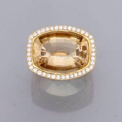 Très jolie bague unique en or jaune, 750...