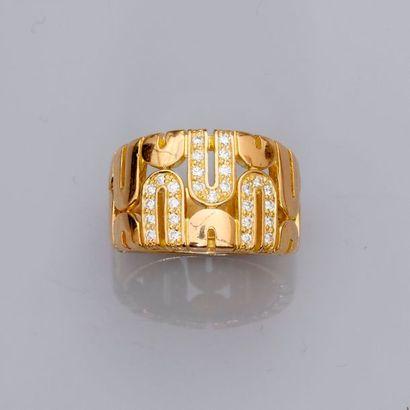 Bague «Anneau» en or jaune, 750 MM, dessinant...