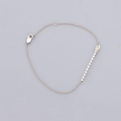 Fin bracelet en or gris, 750 MM, centré d'une...