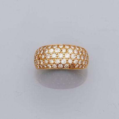 Bague « Anneau » en or jaune, 750 MM, recouverte...