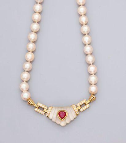 Collier de perles de culture Chocker, fermoir...
