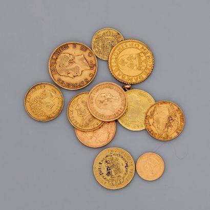 Lot de 13 pièces étrangères anciennes en...