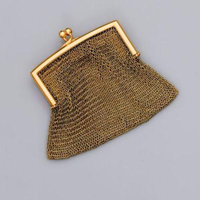 Bourse cote or jaune, 750 MM, à compartiments,...
