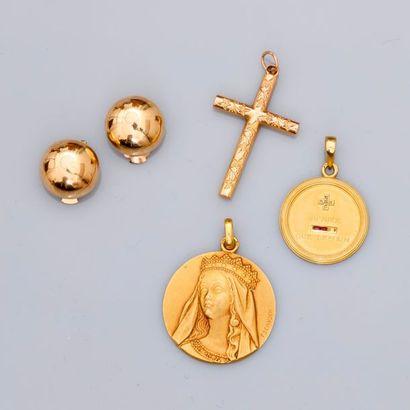 Lot : Jolie médaille «Vierge», croix, médaille...