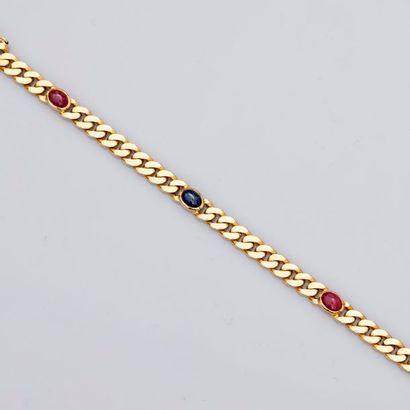 Bracelet classique en or jaune, maille gourmette,...