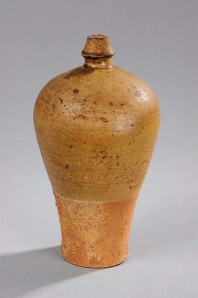 Vase de forme meïping à fond plat, épaulement...